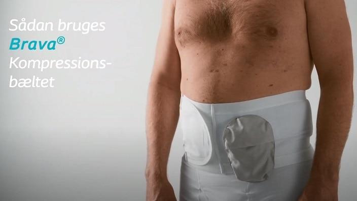 Sådan anvendes Brava® Kompressionsbælte